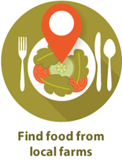 Find farm and delivery locations with the King County Local Food Finder