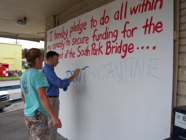 Dow Constantine_South Park Bridge pledge