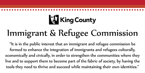 Graphic with text from the Immigrant and Refugee Commission.