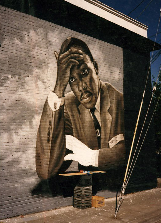 Mural featuring Dr. Martin Luther King, Jr. by James Crespinel