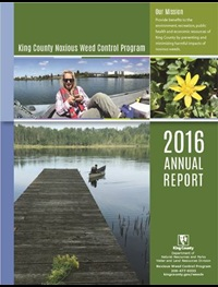 2016 Annual Report of the King County Noxious Weed Board - click to download file