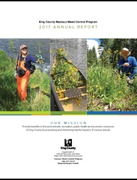 2017 Annual Report of the King County Noxious Weed Control Program - click to download file