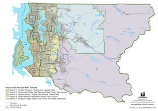 King County Noxious Weed Control Board Weed Districts - click for larger image