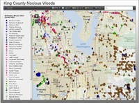 Map of noxious weeds in King County - click for online map