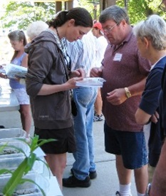 Lake weed watchers learning about water weeds