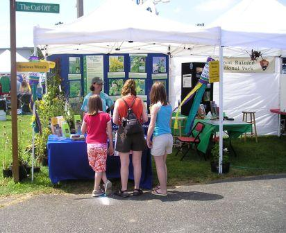 Weed information booth at King County Fair