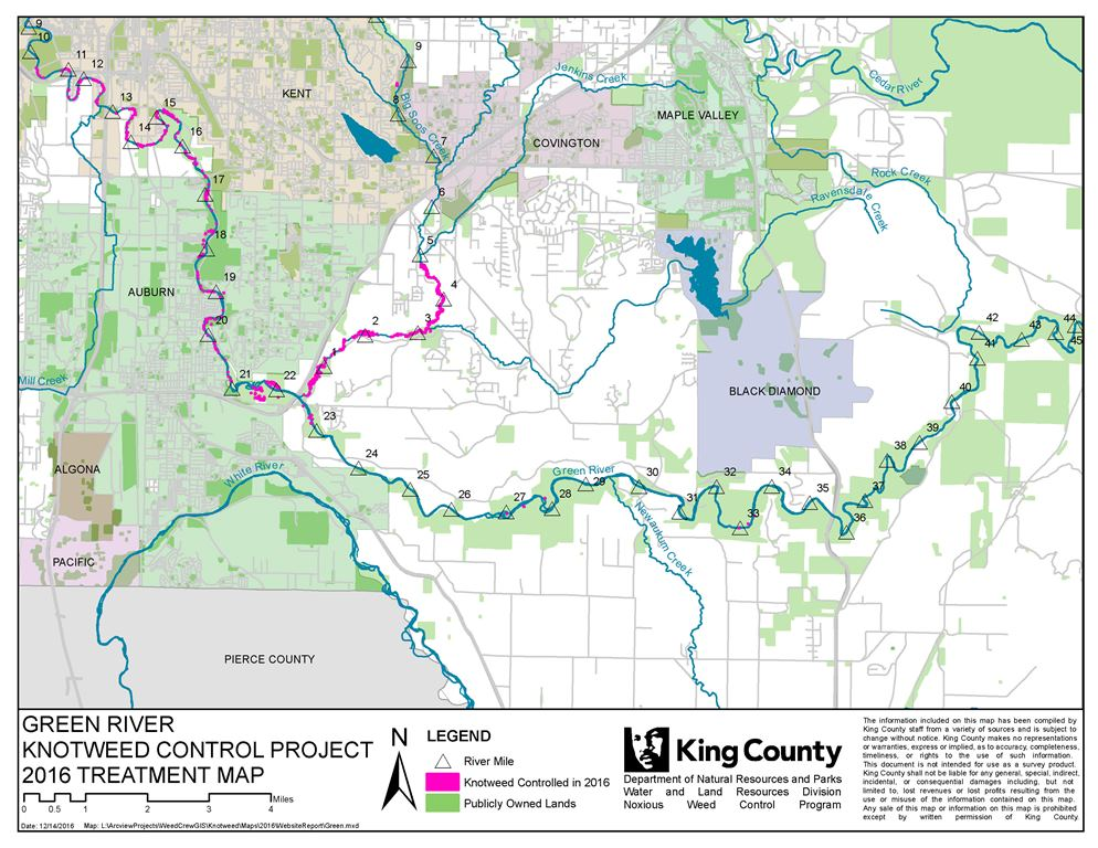 Map of the Green <p>River Knotweed Control Project