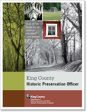 King County historic preservation officer
