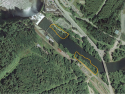 Snoqualmie River flooding project aerial photo