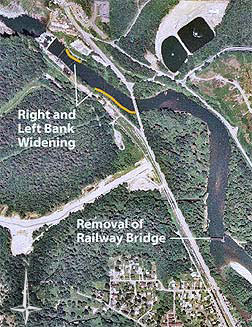 Snoqualmie River flood project aerial photo