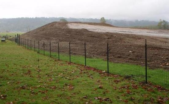A farm pad being constructed in the Duvall area of the Snoqualmie Valley, 2012.