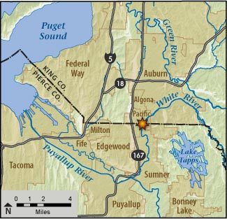 Lower White River project map