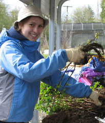Image of volunteer for native plant salvage