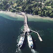 Ferry dock illustrating wave energy as an ecological function