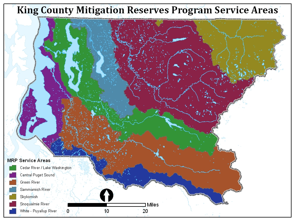 King County Mitigation Service Areas