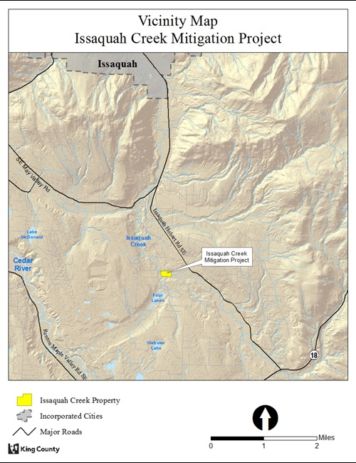 Issaquah Creek Mitigation Project Vicinity Map