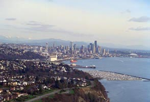 Elliott Bay and downtown Seattle