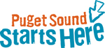 "Logo that reads ""Puget Sound Starts Here"""