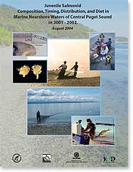 Juvenile salmon composition, timing, distribution and diet in Central Puget Sound