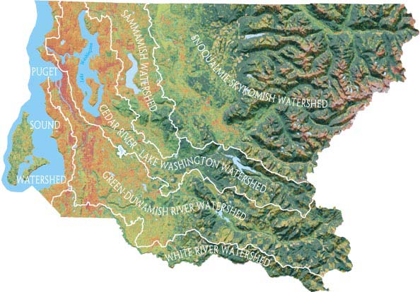 King County Watersheds Map - Click your Watershed