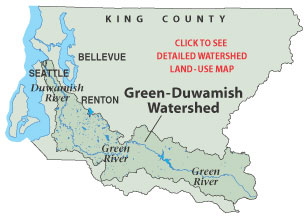 Map of Green-Duwamish Watershed