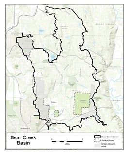 Bear Creek Basin Stormwater Plan study area
