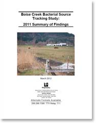 Cover, Boise Creek Bacterial Source Tracking Study