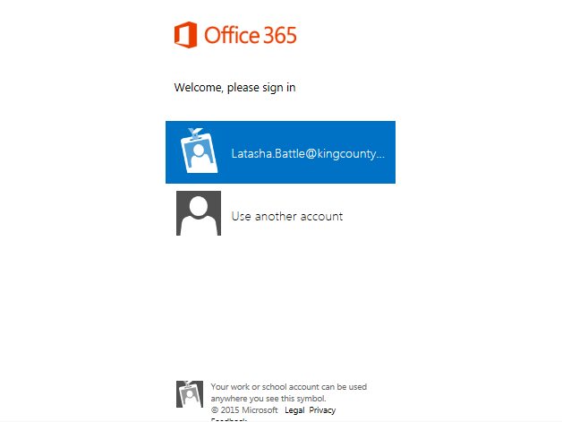 logging into sharepoint online king county