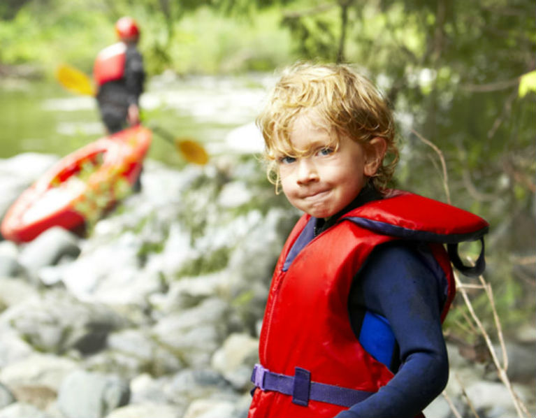 Be safe when on the water, wear a life jacket