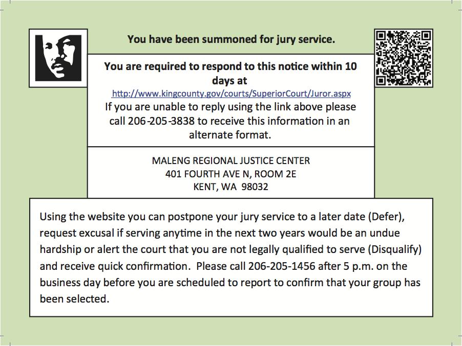 Jury Duty - King County