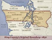 Map: King County's Historical Boundary-1852 (53k JPEG)