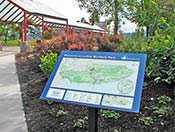 On-site map installation: Luther Burbank Park (136k JPEG)