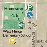 Map detail: Mercer Island Park System Guide