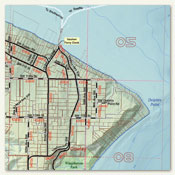 Map, sample detail: Vashon Island Road Map, 2014 Edition (132K JPEG preview)