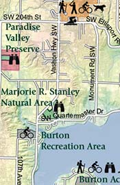 Map detail: Vashon - Maury Island Map and Guide