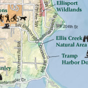 Vashon-Maury Island Parks & Natural Lands Map detail