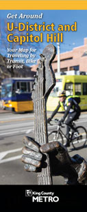 Get Around U-District & North Capitol Hill map brochure cover image