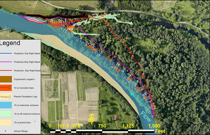 Upper Carlson Levee Project aerial photo: updated geomorphic response-small