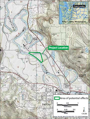 Vicinity map: Upper Carlson Floodplain Restoration Project