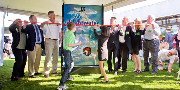 Local dignitaries and community members joined King County Executive Dow Constantine on Saturday, Sept. 24th to celebrate an extraordinary regional investment in clean water with the start of Brightwater Treatment Plant operations.