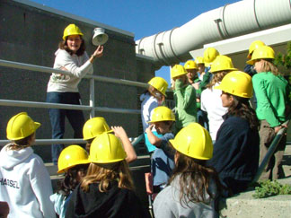 School group tour at a treatment plant tour