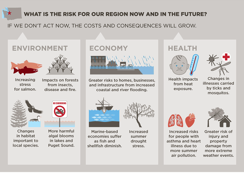 Climate change infographic - King County
