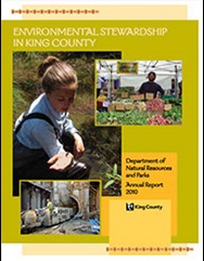 2010 DNRP Annual Report cover - Environmental Stewardship in King County