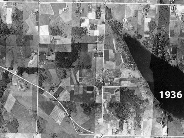 1936 Aerial Photograph of Lake Meridian