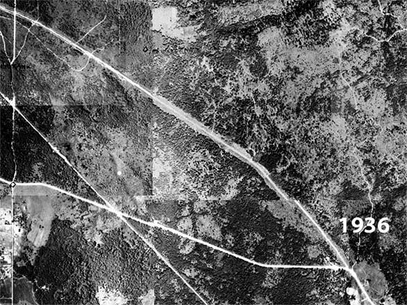 1936 Aerial Photograph of the Fairwood area