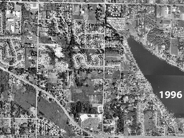 1996 Aerial Photograph of Lake Meridian