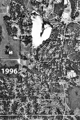 1996 Aerial Photo of Cottage Lake
