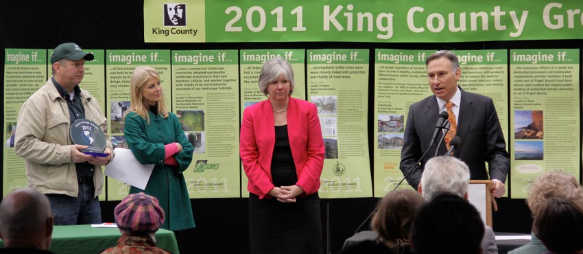 King County honors environmental leaders with the 2011 Green Globe Awards