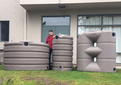 Rain tanks come in all shapes and sizes.