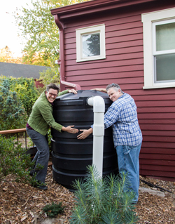 Two Happy Rainwater Harvesters